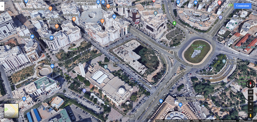 Sfax en 3D sur Google Maps