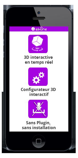 configurateur d'espace 3D à 360°
